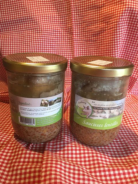 Vente A La Ferme La Touche Guillet Saucisses Lentilles 1