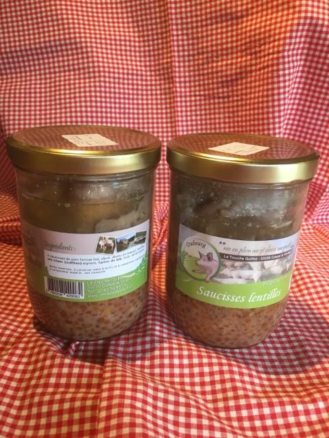 Vente A La Ferme La Touche Guillet Saucisses Lentilles